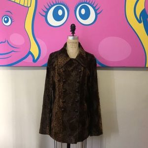What Goes Around Comes Around Faux Fur Jacket